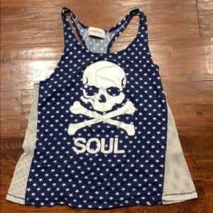 Soul Cycle White Star Tank